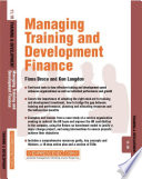 Managing Training and Development Finance