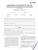 Specifications for Tolerances for Concrete Construction and Materials and Commentary