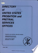 Directory Of United States Probation And Pretrial Services Officers