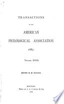 Transactions and Proceedings of the American Philological Association