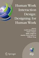 Human Work Interaction Design  Designing for Human Work Book