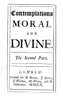 Contemplations, Moral and Divine