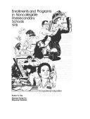 Enrollments and Programs in Noncollegiate Postsecondary Schools