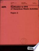 Notification to EPA of Hazardous Waste Activities