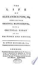 The Life of Alexander Pope, Esq