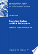 Innovation Strategy And Firm Performance Book PDF