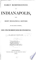 Early Reminiscences of Indianapolis