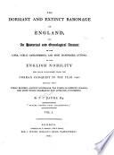 The Dormant and Extinct Baronage of England