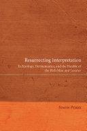 Pdf Resurrecting Interpretation