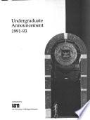 Undergraduate Announcement Book