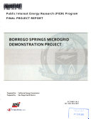 Borrego Springs Microgrid Demonstration Project Book PDF