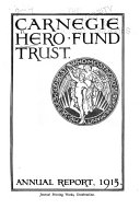 Report of the Proceedings of the Trustees of the Carnegie Hero Fund