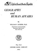 Geography and Human Affairs