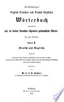 Vollst  ndiges englisch deutsches und deutsch englisches W  rterbuch  bearb  von J  G  Fl  gel  N  N  W  Meissner