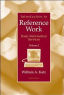Introduction To Reference Work Volume I