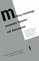 Military Technology, Armaments Dynamics and Disarmament Pdf/ePub eBook
