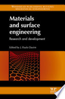 Materials And Surface Engineering Book PDF