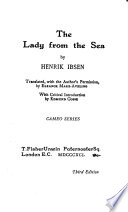 The Lady from the Sea Book
