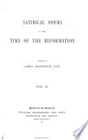 Satirical Poems of the Time of the Reformation