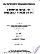 Summary Report on Emergency Vehicle Sirens