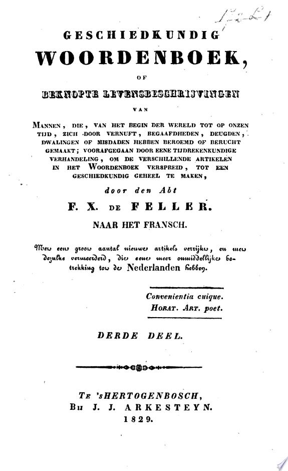 Geschiedkundig woordenboek, of Bekn