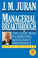 Managerial Breakthrough Book