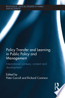 Policy Transfer And Learning In Public Policy And Management