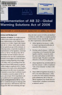Implementation of AB 32 Book