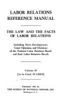 Labor Relations Reference Manual Book