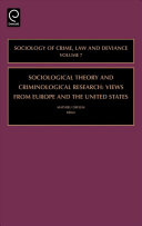Sociological Theory and Criminological Research