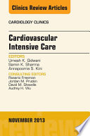 Cardiovascular Intensive Care, An Issue of Cardiology Clinics,
