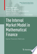 The Interval Market Model in Mathematical Finance Book