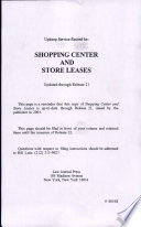 Shopping Center and Store Leases Book