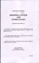 Pdf Shopping Center and Store Leases