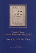 Paradise Lost  Essays on the 1667 first edition