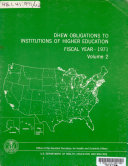 DHEW Obligations to Institutions of Higher Education and Other Nonprofit Organizations