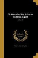 DICTIONNAIRE DES SCIENCES PHIL