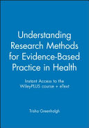 Instant Access To The Wileyplus Course Etext For Understanding Research Methods For Evidence Based Practice In Health 1e