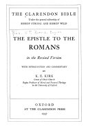 The Epistle To The Romans In The Revised Version