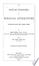 The Popular Cyclop  dia of Biblical Literature