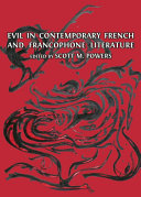 Pdf Evil in Contemporary French and Francophone Literature Telecharger