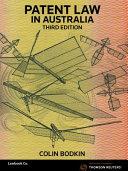 Cover of Patent Law in Australia