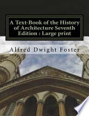 A Text-Book of the History of Architecture Seventh Edition