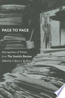 Page to Page  : Retrospectives of Writers from The Seattle Review
