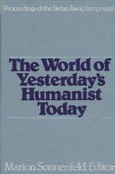 World of Yesterday s Humanist Toda Book PDF