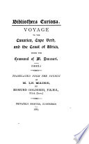 Voyage to the Canaries Cape Verd  and the Coast of Africa Under the Command of M  Dancourt  1682