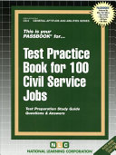 Civil Service Test Practice Book for 100 Civil Service Jobs