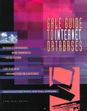 Gale Guide to Internet Databases Book