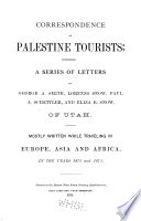 Correspondence of Palestine Tourists