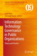 Pdf Information Technology Governance in Public Organizations Telecharger